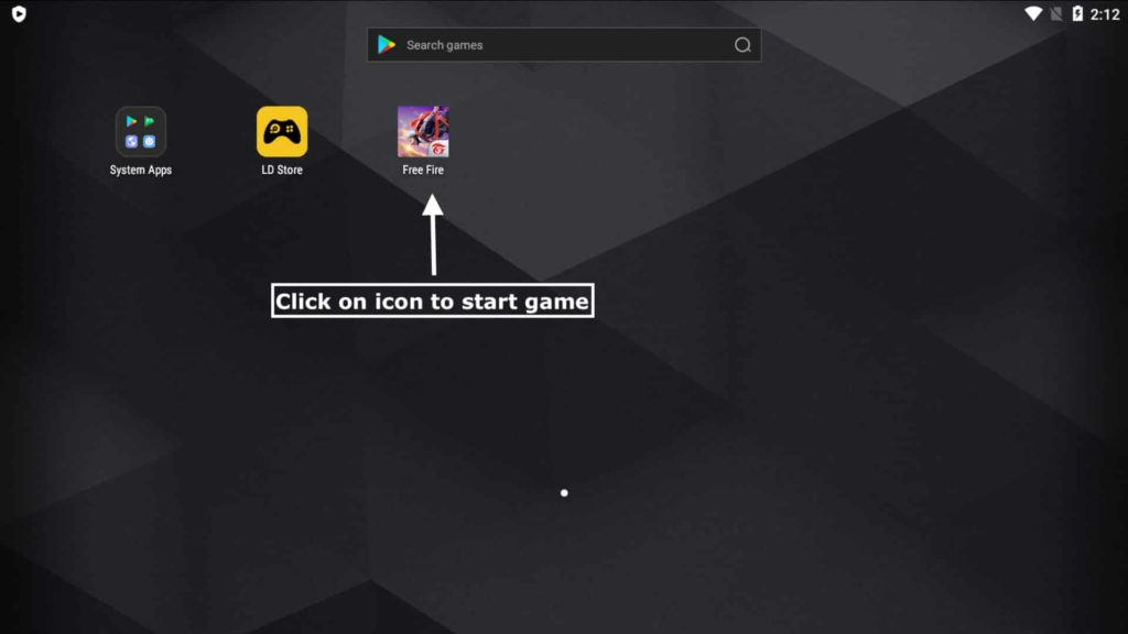 Click on icon to Start Game