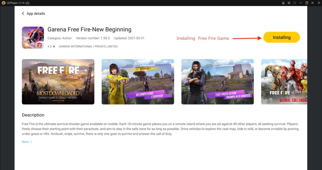 How to Download Free Fire in PC