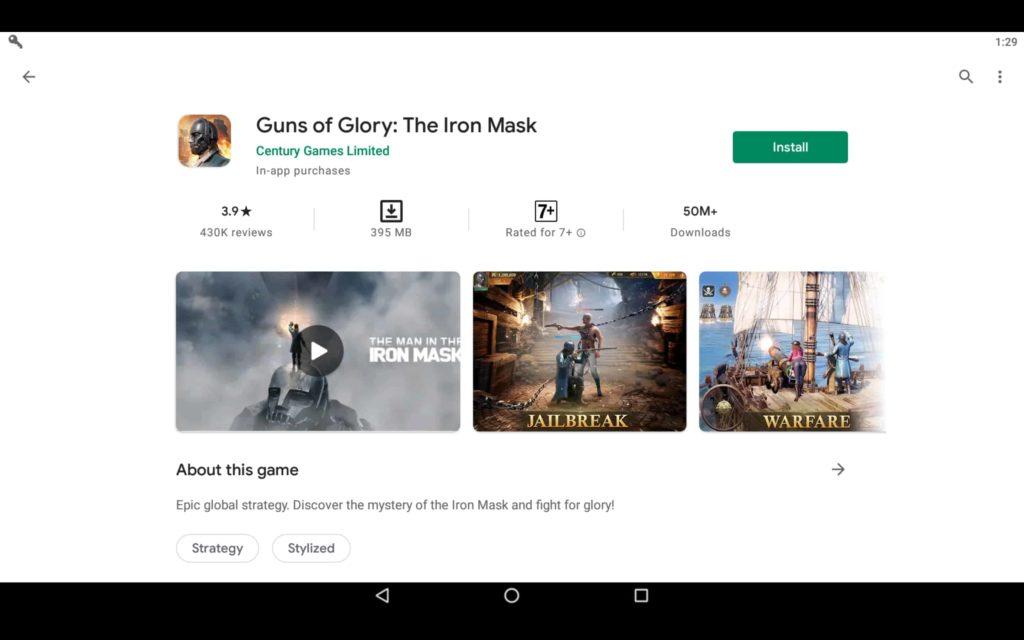 Install Guns of Glory on PC