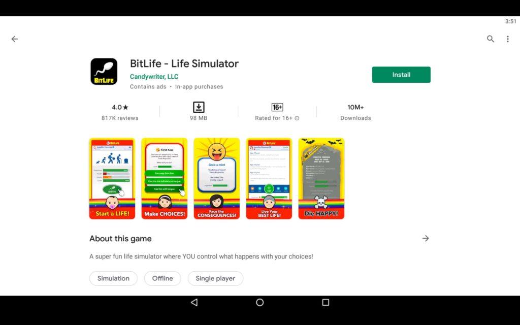 Install Life Simulator Game