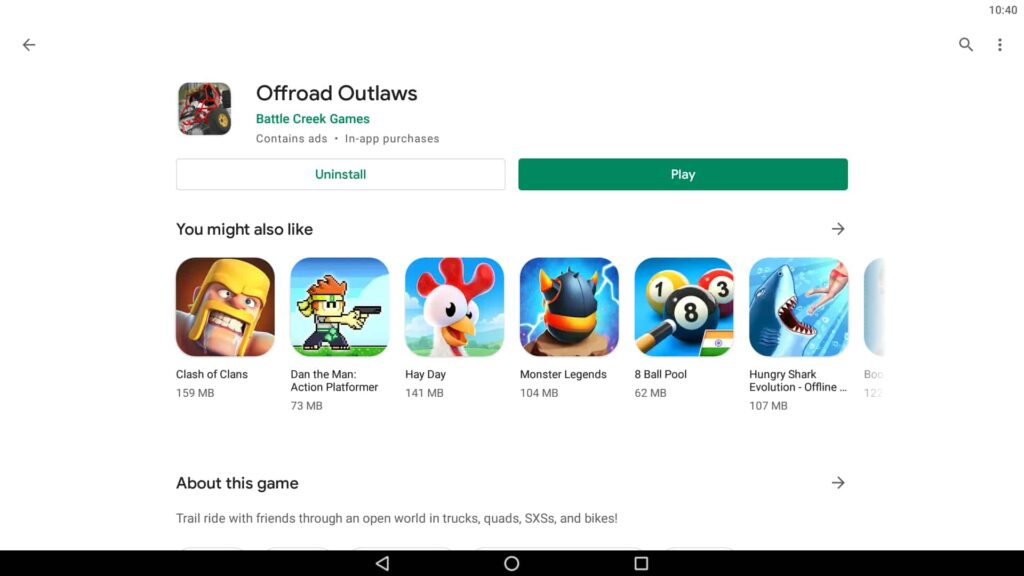 Install Offroad Outlaws on PC