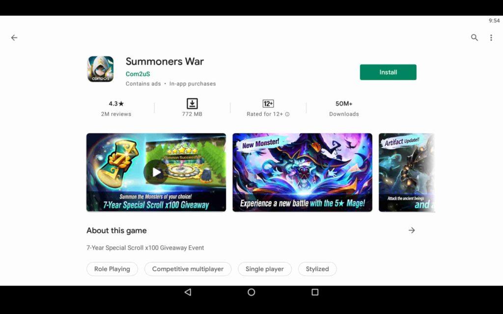 Installez Summoners War sur PC