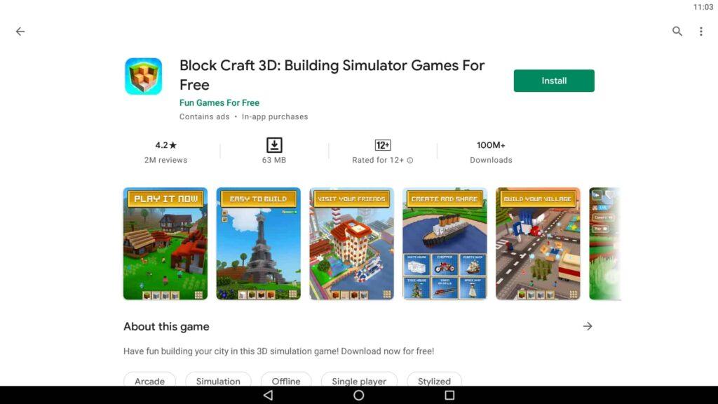 Installieren Sie Block Craft 3D auf dem PC