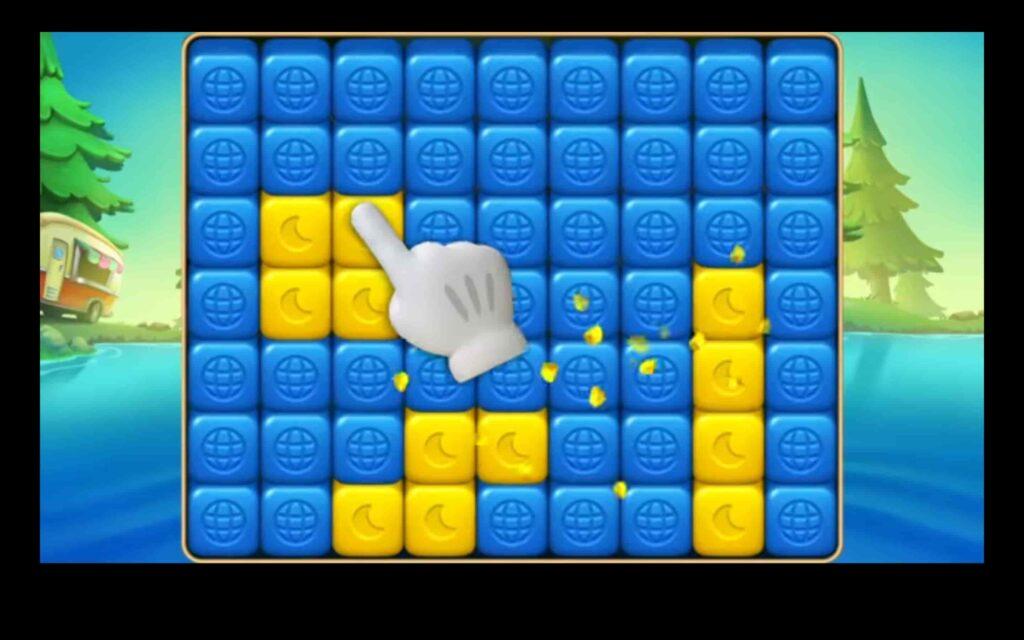 Schermata del gioco Toon Blast